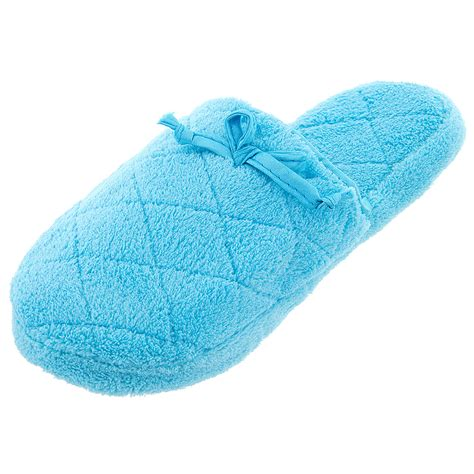 fuzzy slippers blue quilted fuzzy slippers for