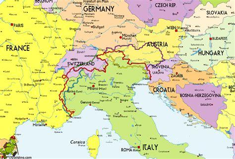 map of italy and germany map of italy and recana masana