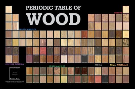Periodic Table Of Wood by Periodic Table Of Wood Exles Wood