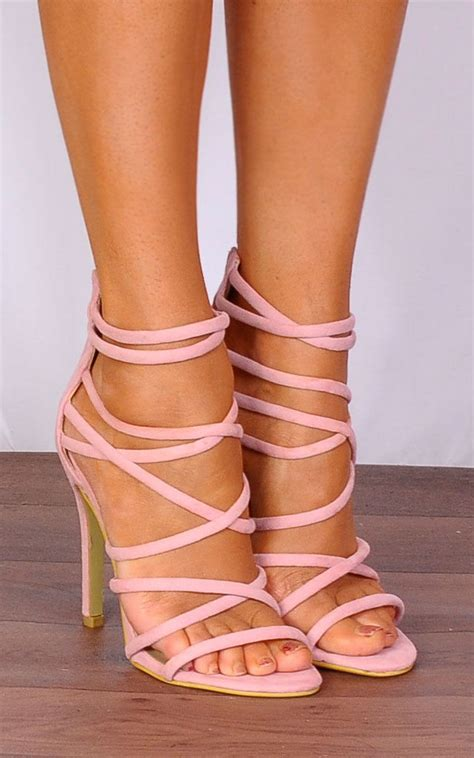 light pink heels baby light pink strappy sandals stilettos high heels