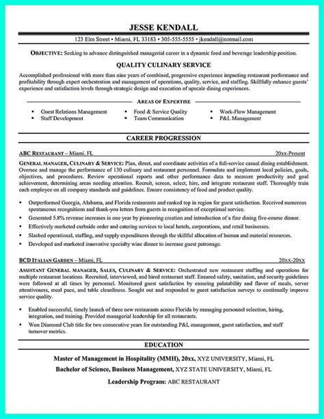 chef career objective 2695 best images about resume sle template and format