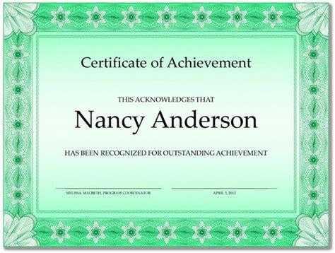Editable Certificate Of Achievement Openoffice Format Word Excel Exles Editable Certificate Of Achievement Template