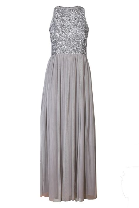 Dress Maxy Grey lace picasso grey embellished maxi dress dresses