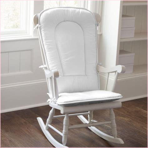 rocking armchair nursery baby nursery nice looking white painted wooden glider