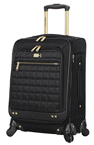 steve madden luggage carry on 20 quot expandable softside suitcase with spinner wheels cubical
