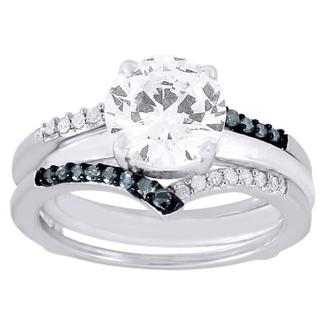 blue white solitaire engagement ring enhancer wrap