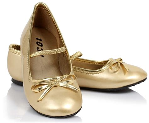 golden flat shoes ballet flat gold child shoes buycostumes