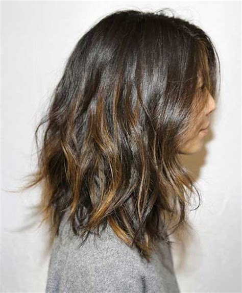 medium length hair with ombre highlights 15 best long bob brown hair bob hairstyles 2017 short