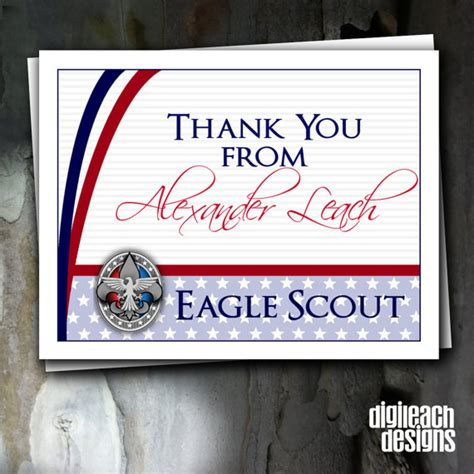 eagle scout thank you card template eagle scout court of honor thank you note and