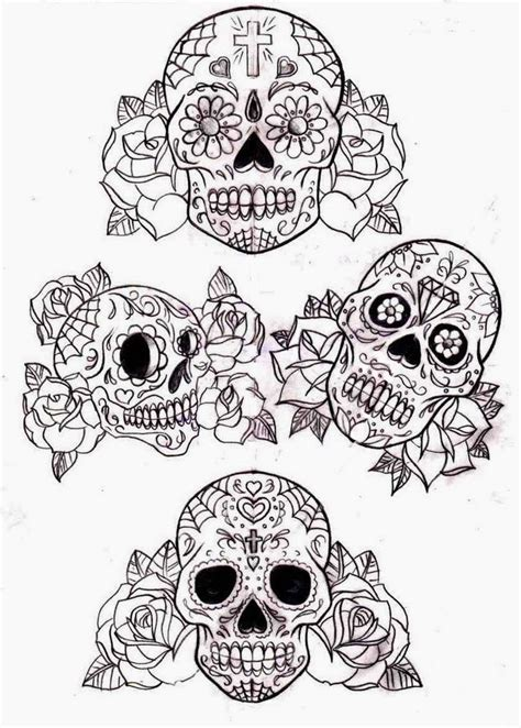 sugar skulls and roses tattoos tattoos book 2510 free printable stencils skulls