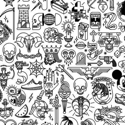 small tattoo flash flash doodles flash tattoos