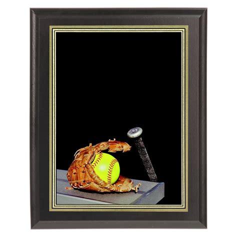 softball color color softball plaque