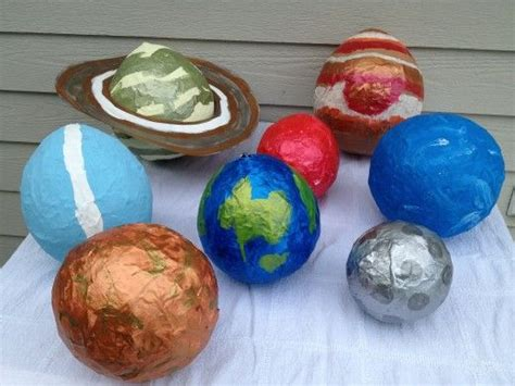 How To Make A Paper Mache Planet - solar system projects mini clay paper mache and yarn