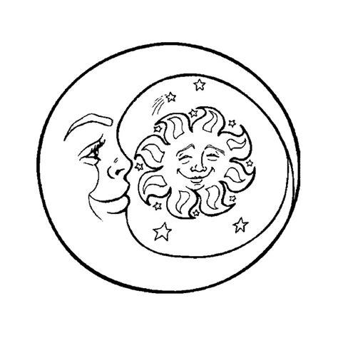 Coloriage Soleil Et Lune A Imprimer Gratuit
