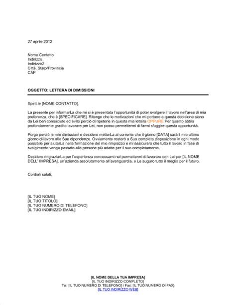 lettere di licenziamento modelli lettera dimissioni modello inglese