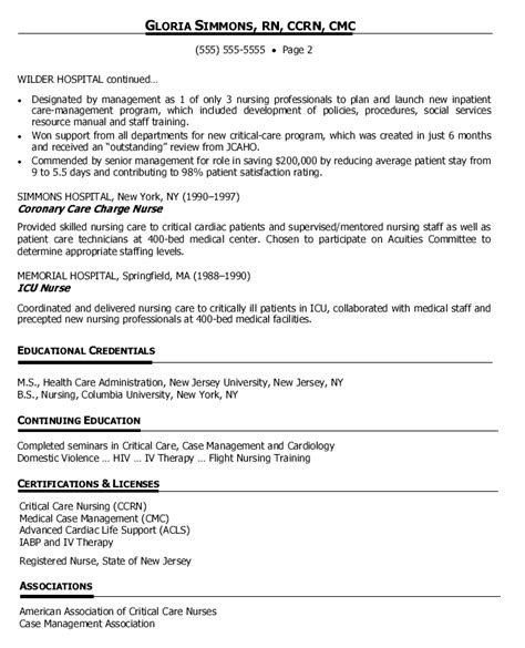 retail resume objective sample example of a nursing management