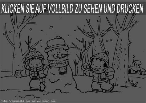 winter 9   Ausmalbilder und Basteln mit Kindern