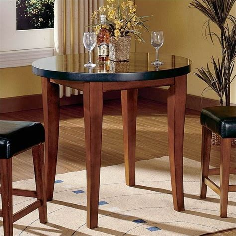 round granite dining table steve silver company bello round granite counter height