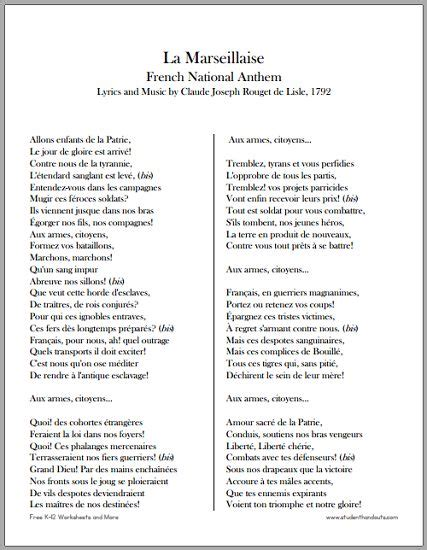 printable lyrics national anthem 155 best images about k 12 education and learning on
