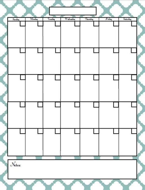 free printable blank monthly calendar template free fill in blank calendar printables search results