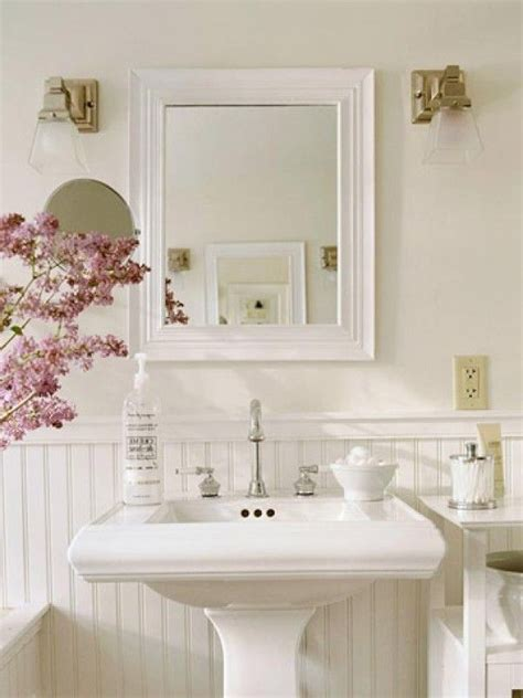 Cottage Style Mirrors Bathrooms by Country Decorating With Tile Country