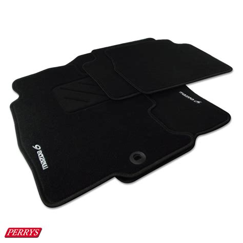 mazda  gg hatch black needlepile front rear floor mats genuine oe tailored ebay