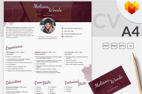 website templates for visual artists 8 printable resume templates that get you the job of your