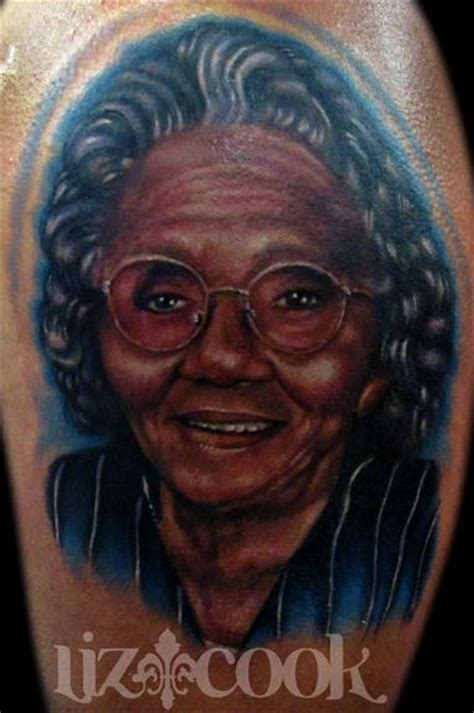 dark skin color tattoo portrait of scoop s by liz cook tattoos
