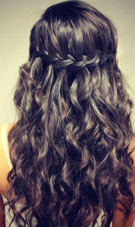 Waterfall Braid Hairstyles braid hairstyles waterfall loop