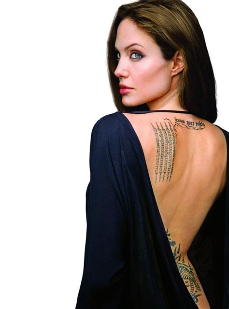 angelina jolie chest tattoo 24 sexy angelina jolie tattoos for 2013 creativefan