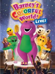 barney colorful world live barney s colorful world live 2004 imdb