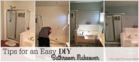 Diy Bathroom Makeover by Tips For An Easy Diy Bathroom Makeover