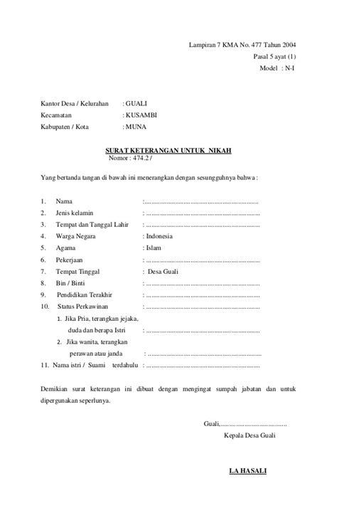 Contoh Surat Dispensasi Nikah Camat - Surat 35