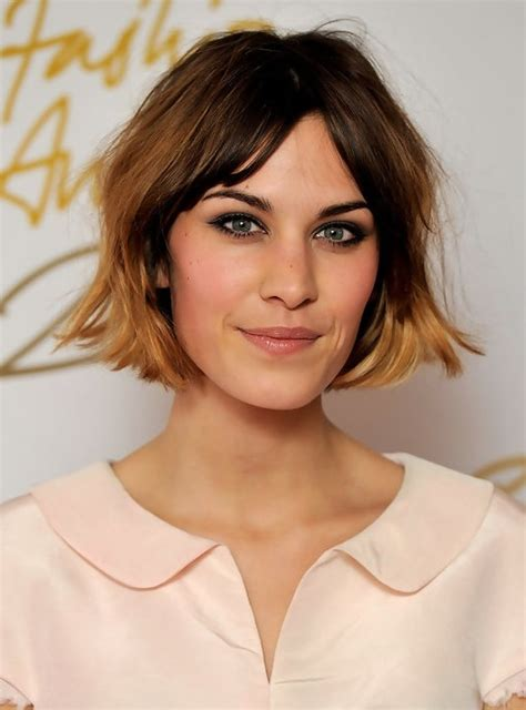very short bobs with ombre alexa chung short hairstyle ombre bob haircut popular