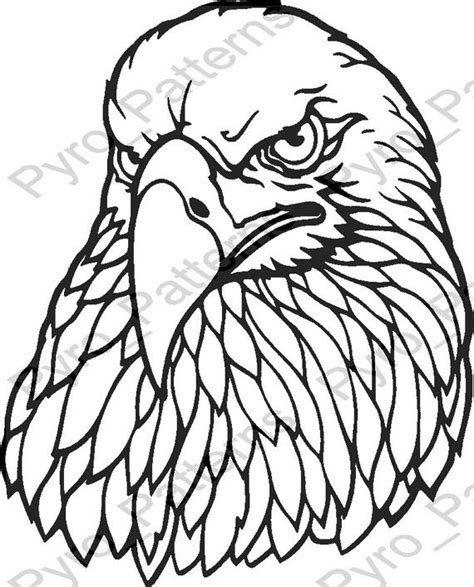 pyrography templates free pyrography wood burning eagle bird pattern printable
