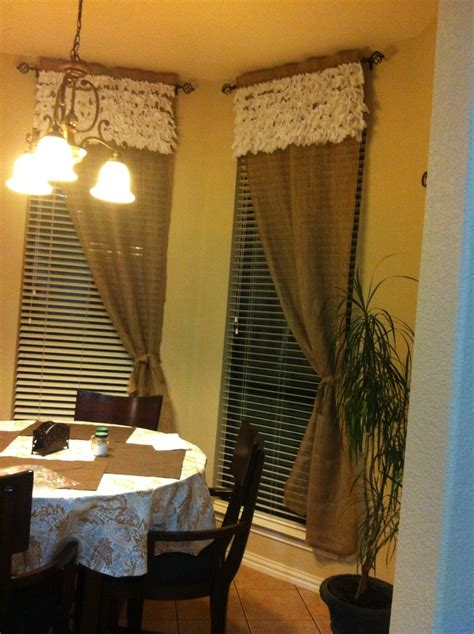 pinterest burlap curtains burlap curtains i made look great debs place