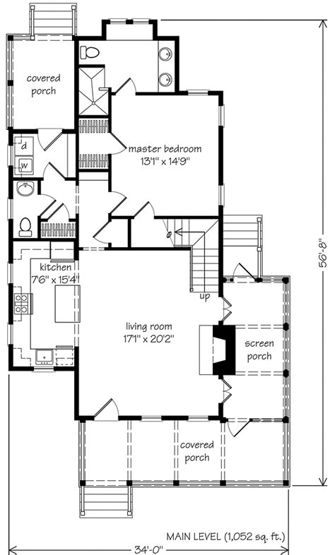 bungalow style floor plans sugarberry cottage moser design southern living house plans