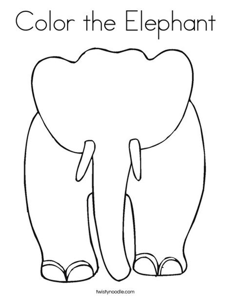 grey elephant coloring pages color the elephant coloring page twisty noodle