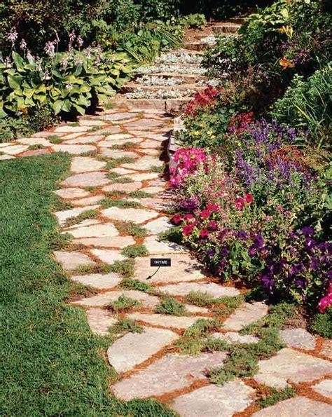 flagstone backyard community garden pinterest