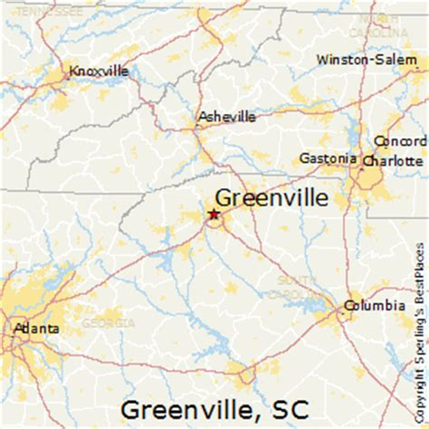 greenville sc map greenville south carolina map images