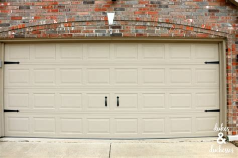 Cheap And Easy Garage Door Makeover Dukes And Duchesses Magnetic Garage Door Hardware