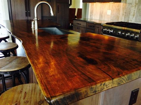 Kitchen Island Chandeliers live edge walnut countertop modern philadelphia by