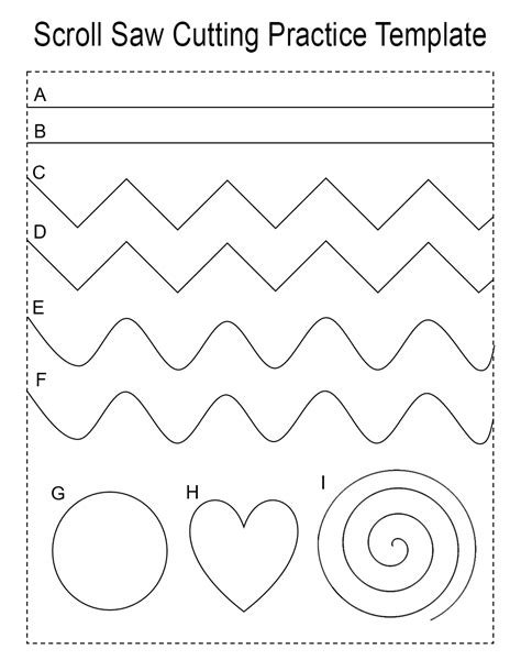 Practice Pattern For The Scroll Saw Or Band Saw Scroll Saw Designs Templates