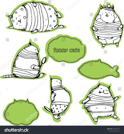 free vector doodle characters cats characters doodles vector stock vector