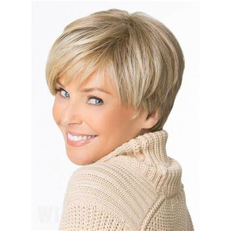 type 1 short hair modern short straight layered bob haircut synthetic hair