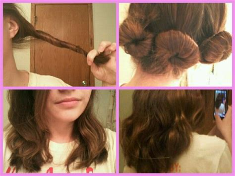 hair into small buns once dry remove buns and finger brush your hair 17 best images about overnight hair on pinterest