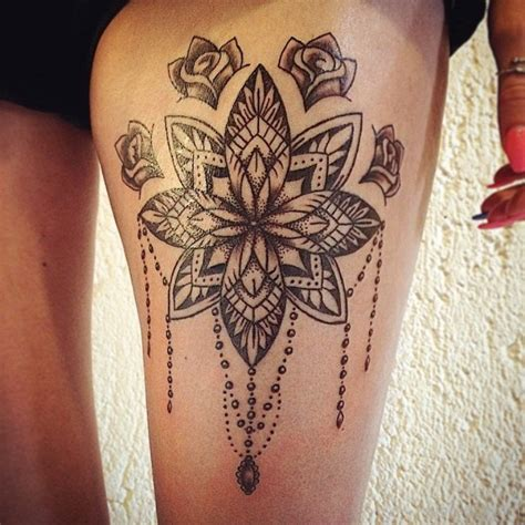 mandala thigh tattoo mandala images designs