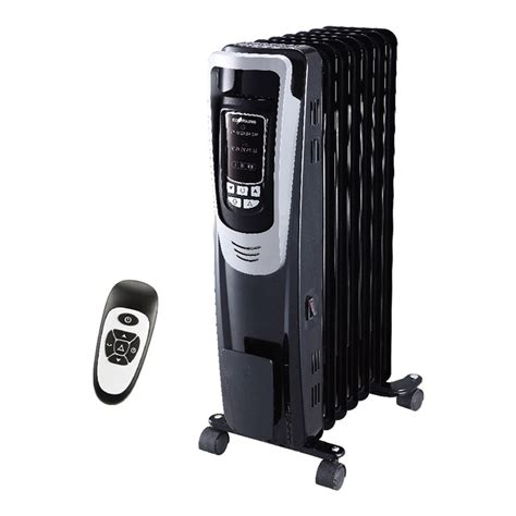 ecohouzng 5200 btu fan tower electric space heater shop ecohouzng 5200 btu filled radiant flat panel