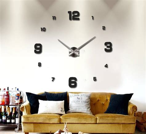 Jam Dinding Besar Diy 3d Wall Clock Silver diy 3d wall clock 187 gadget flow