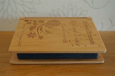 Wedding Album With Wooden Cover by Personalised Wooden Wedding Photo Album By Laser Made